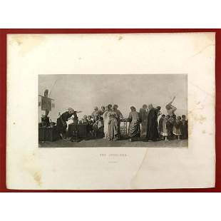 19thc French Photogravure, The Jugglers