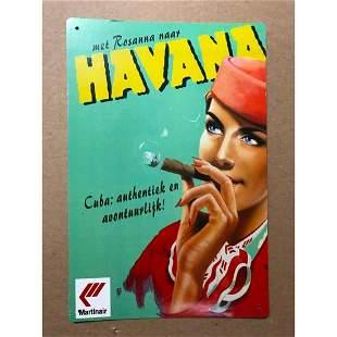 Martinair Havana Cuban Cigar Pub Bar Sign