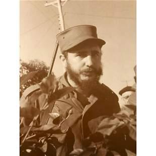 Young Fidel Castro Sepia Photo Print