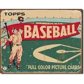 Topps Baseball Cards Vintage Style Metal Sign