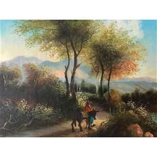 Vintage 20thc Landscape Oil Painting