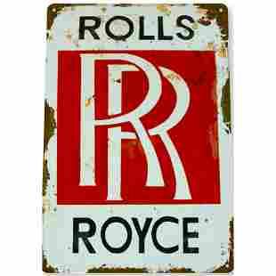 Rolls Royce Motorcar Metal Sign