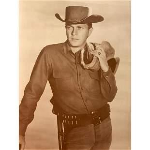 Steve McQueen Western Cowboy Poster Photo Print