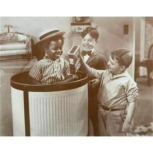 Little Rascals Laundry, Soap Flakes Sepia Photo Print