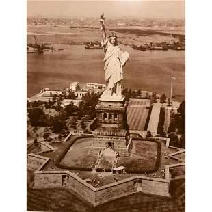 Statue of Liberty, New York City Sepia Tone Photo Print