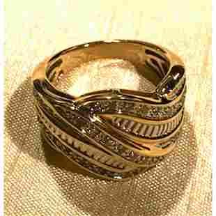 Diamond Chip Cocktail Ring