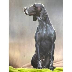Bird Dog, Hunting Dog Oil Painting