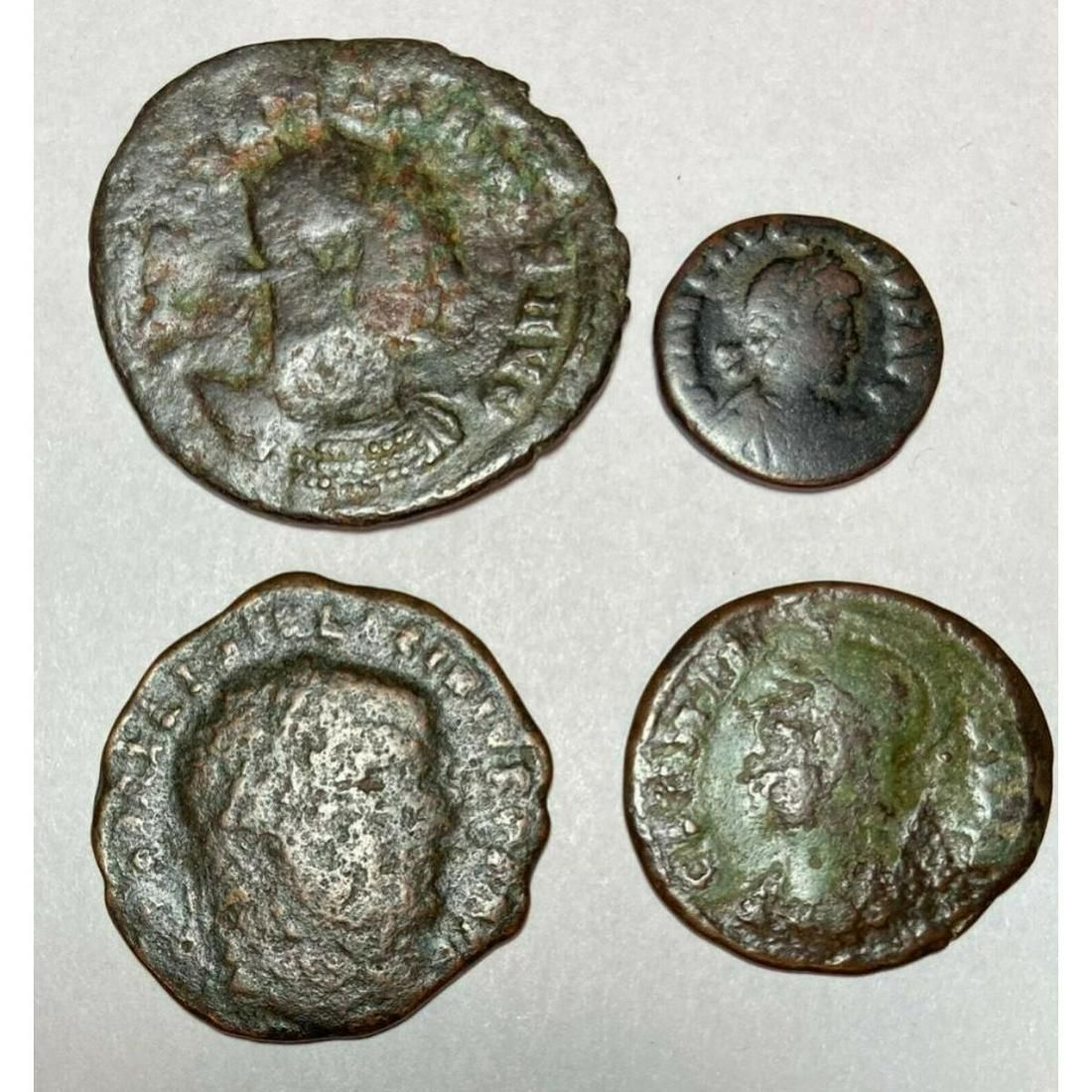 Group of Ancient Roman Bronze Coins