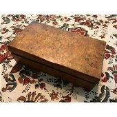 Antique Burl Wood Desk Box