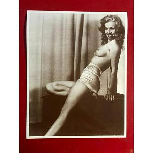Topless Marilyn Monroe Photo Print