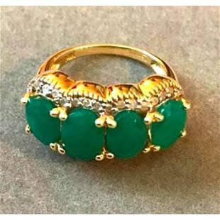 5.50ctw Emerald & Diamond 14kt Gold Ring