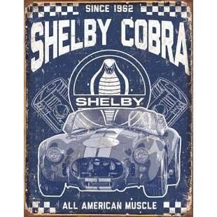 Shelby Cobra Garage Pub Bar Metal Sign