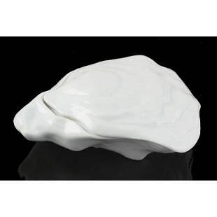 Limoges Porcelain Oyster Shell Trinket Box