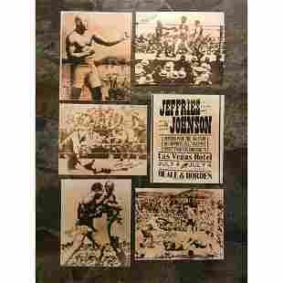 African American History, Jack Johnson Boxing Photo