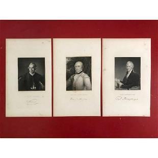 19thc Steel Engravings, Revolutionary War Officers