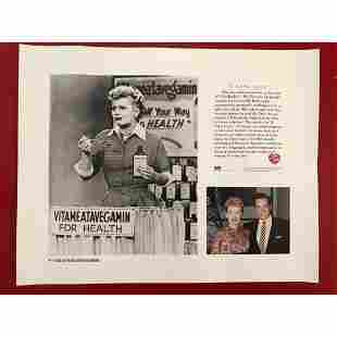 I Love Lucy Collectible Lithograph Print