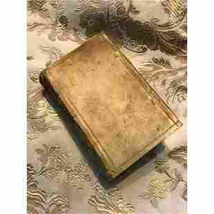 Early 17thc Vellum Latin Book, Jesuit Priest Martin
