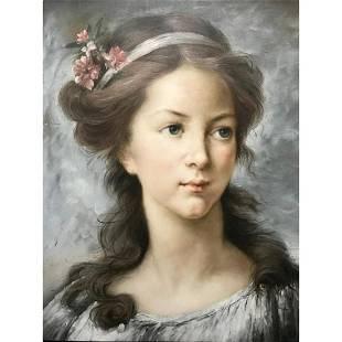 After Madame Le Brun, Self Portrait Oil Painting