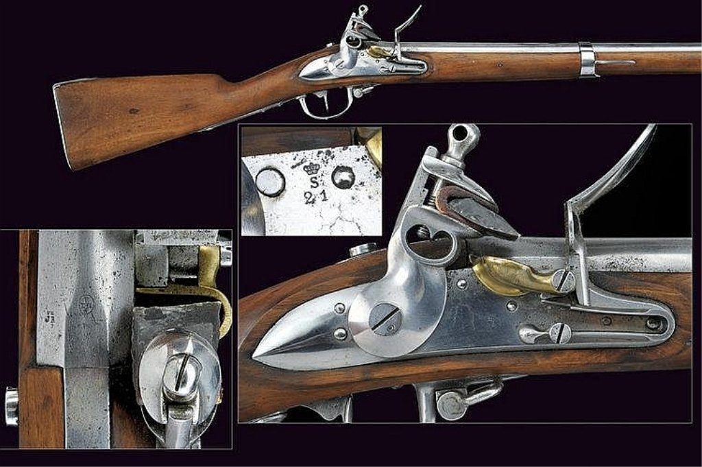 1777 model flintlock gun Smooth barrel