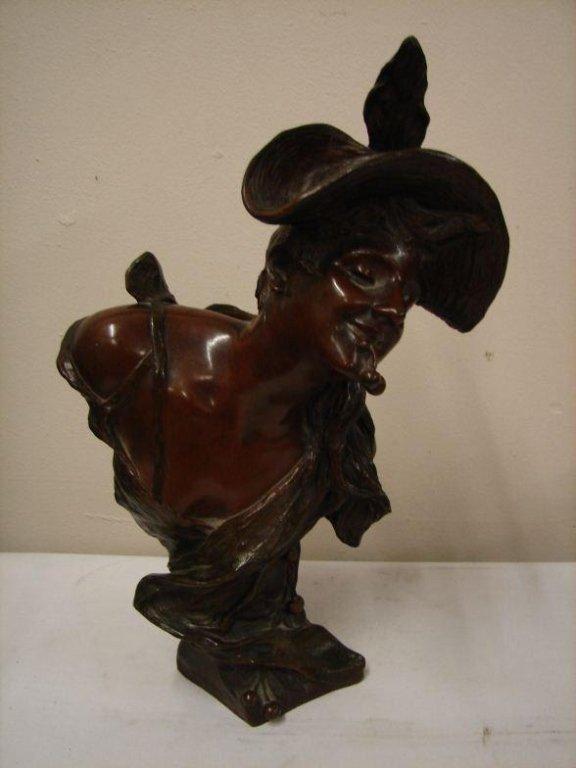 RARE Art Nouveau bronze by Georges Van de Straeten