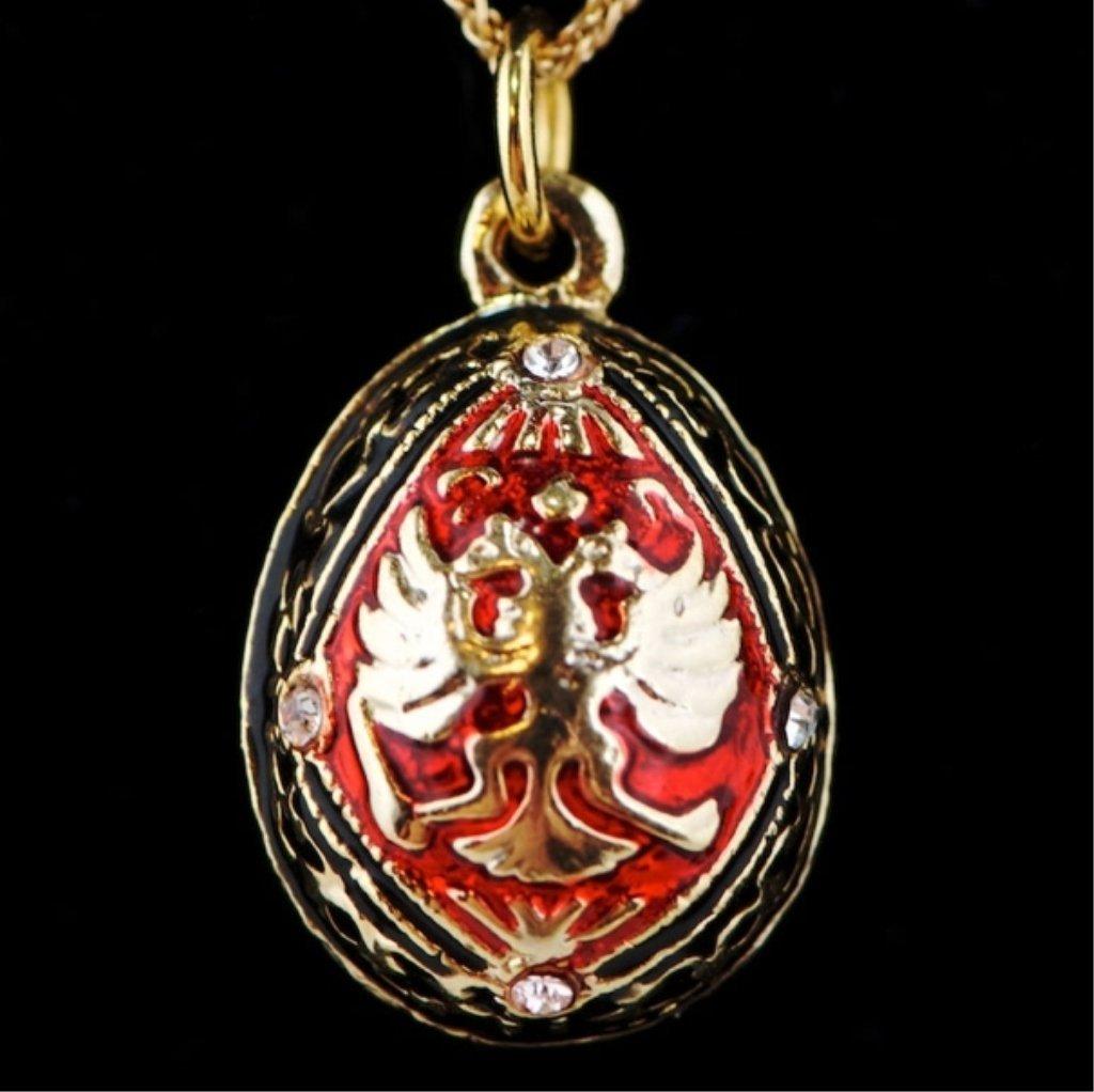 Double-Headed Eagle Faberge Egg Pendant