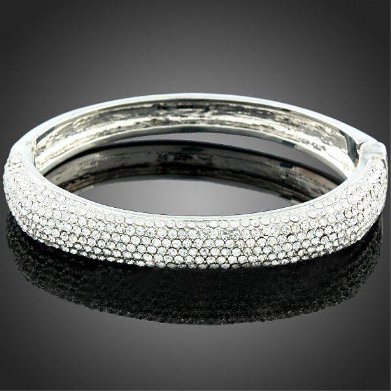 Classic Style Crystal Bangle Bracelet