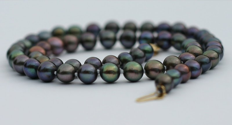 Peacock Saltwater Pearl Necklace