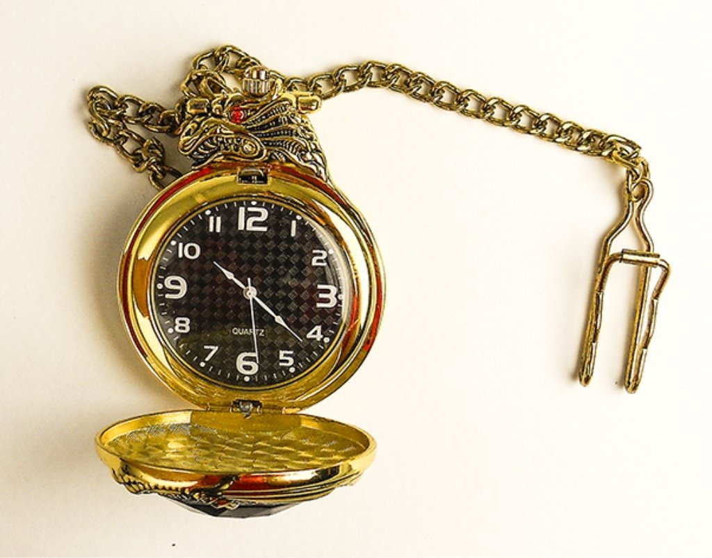 Pocket Watch With Ruby Crystal Case