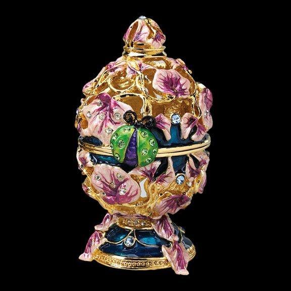 Faberge Inspired Floral & Ladybug Egg