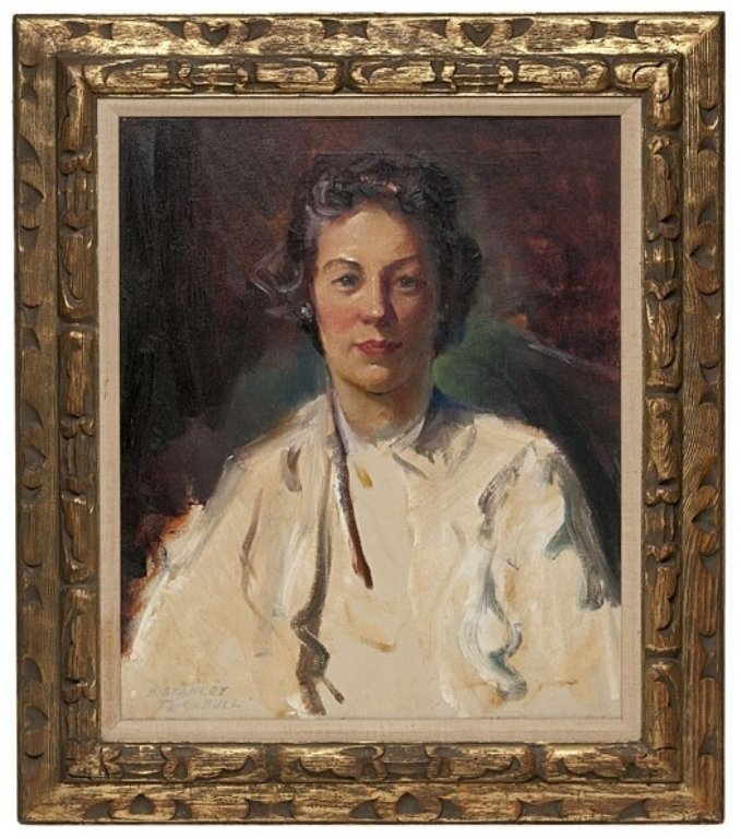 Portrait of Woman by Stanley Turnbull, OOC