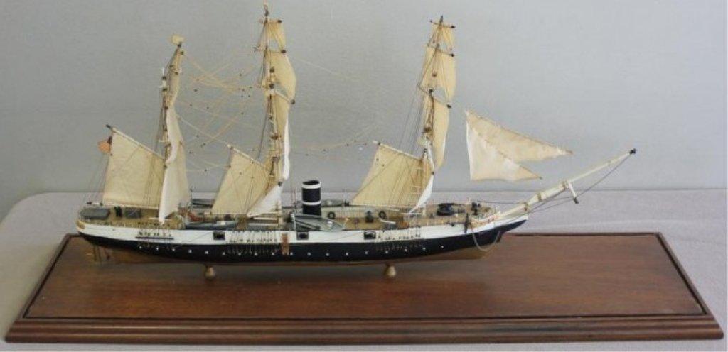Model of USS Kearsage in a Brass and Glass Case.