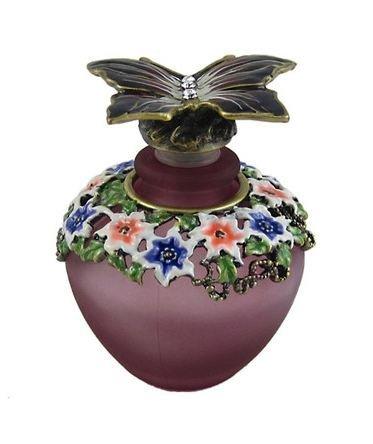 Purple Butterfly Glass Perfume Bottle