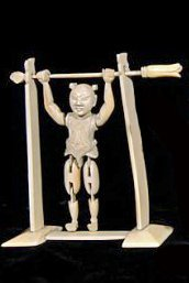 Rare, Chinese Ivory of reticulated Acrobat