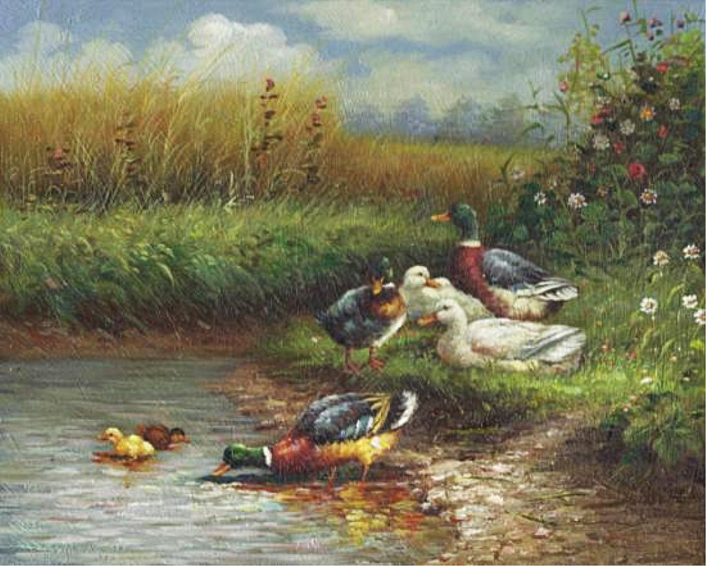 8 X 10 Oil on Board ~The Duck Pond~