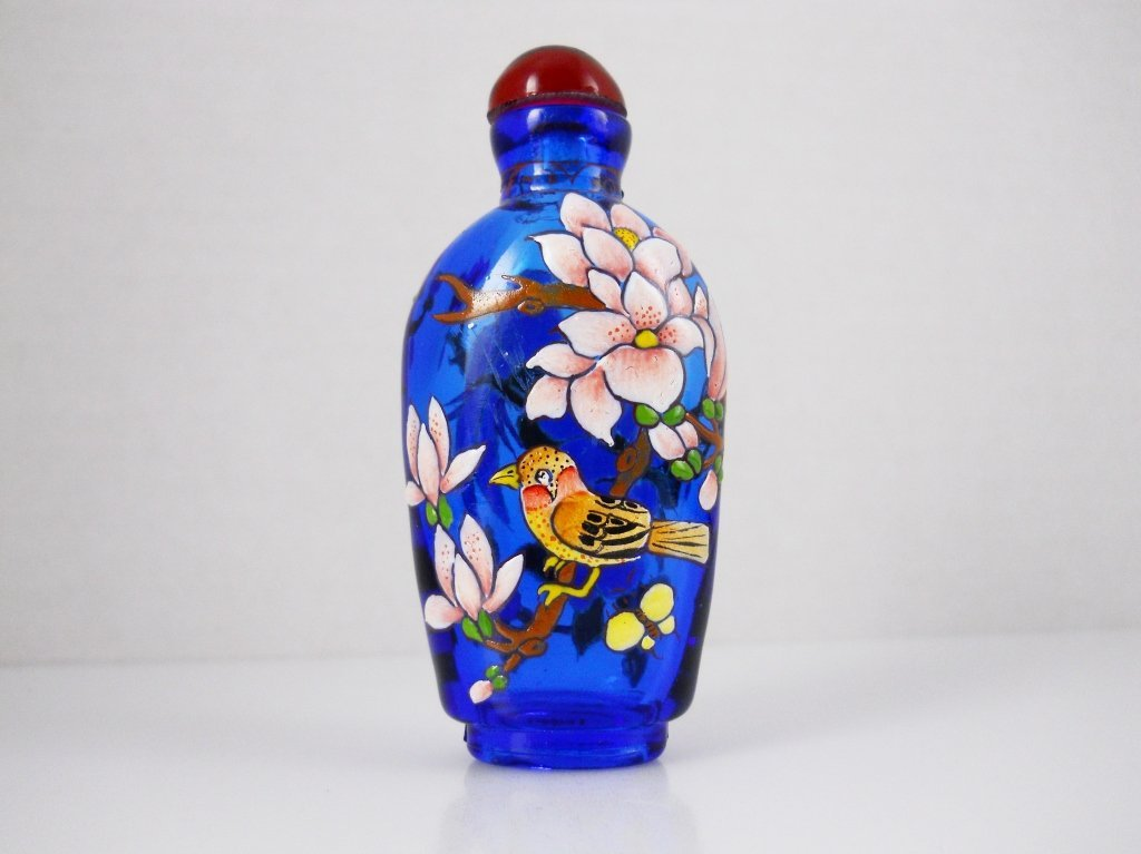 Hand Painted Chinese Glass Bottle