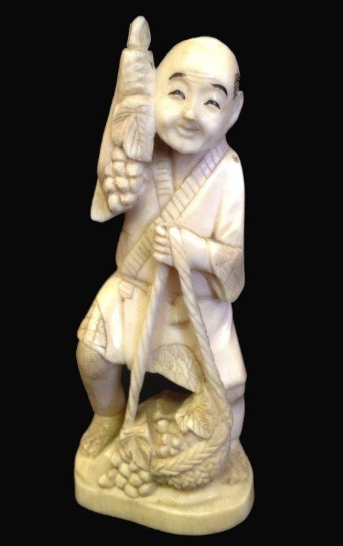 19thC Signed Oriental Ivory Okimo