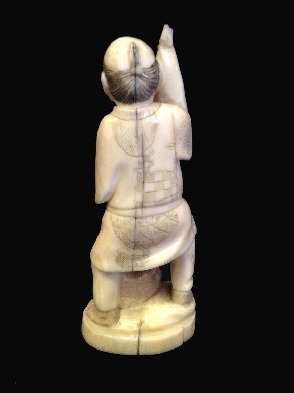 19thC Signed Oriental Ivory Okimo - 2