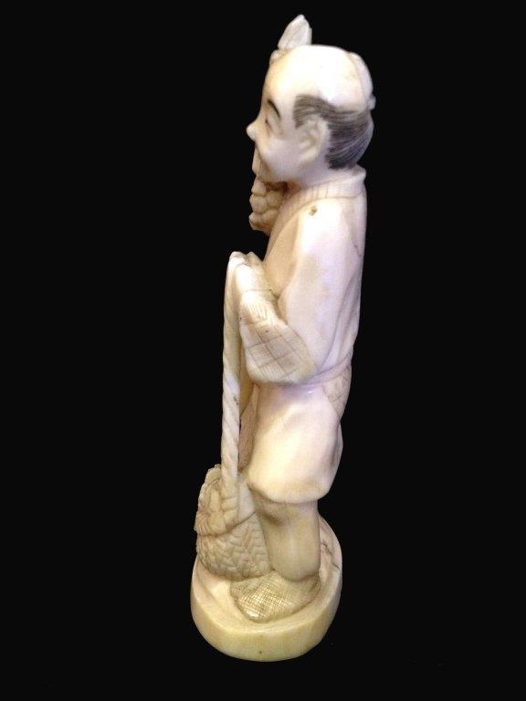 19thC Signed Oriental Ivory Okimo - 3
