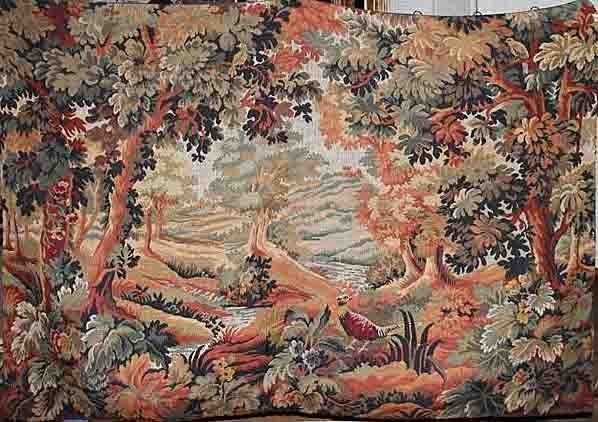 "FRENCH TAPESTRY, 55 1/2"" X 77"" Huge"