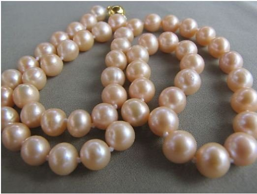 Akoya Round Pink Cultured Pearl Necklace