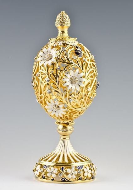 Resting Butterfly Faberge Inspired Egg