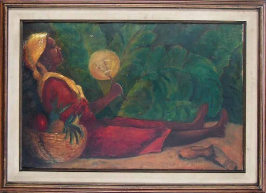 JAMAICAN FRUIT, Oil on Board, signed