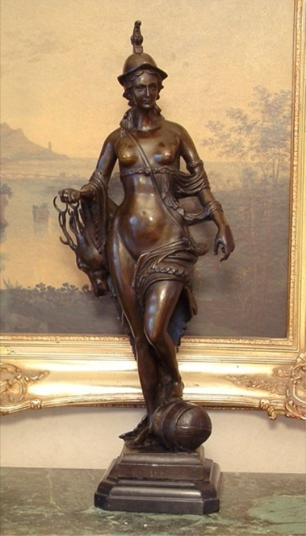 Graceful Bronze Diana - Goddess of the Hunt