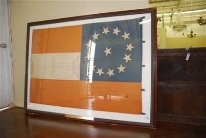 Confederate National Flag. Rare 13 Star