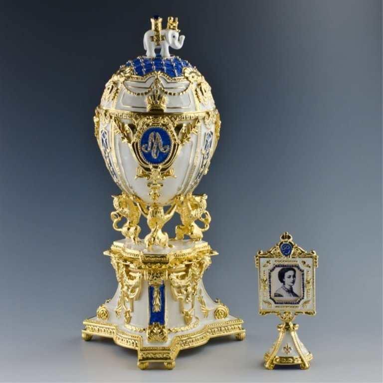 Royal Danish Faberge Inspired Egg
