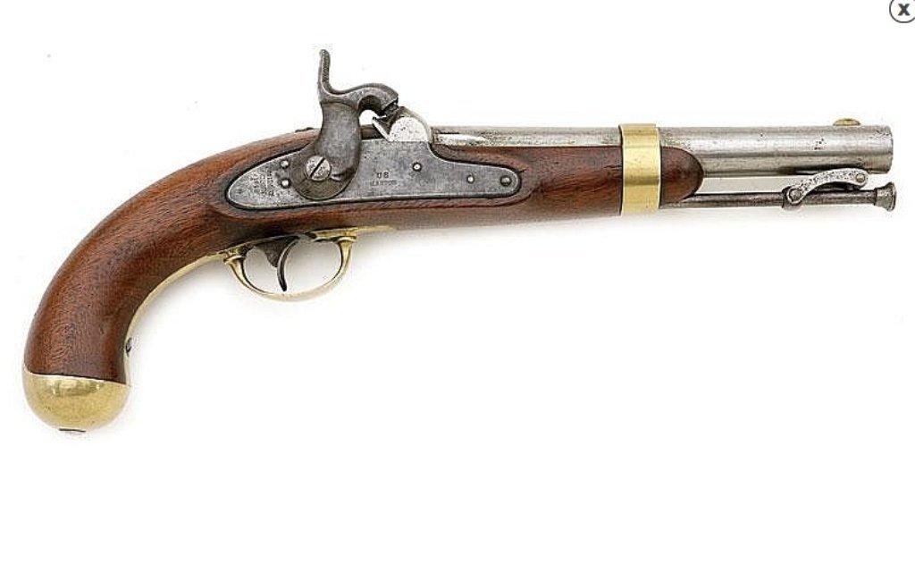 U.S. model 1842 percussion pistol by Aston