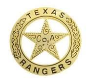 TEXAS RANGERS U.S. MARSHAL WESTERN BADGE