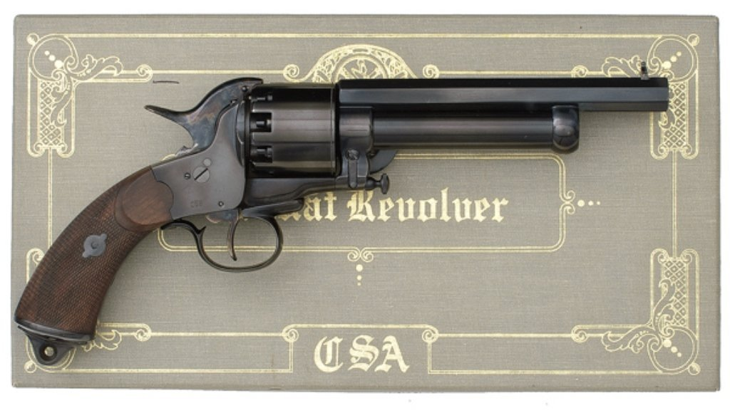 CIVIL WAR LEMAT REPRODUCTION REVOLVER, .45 and .65