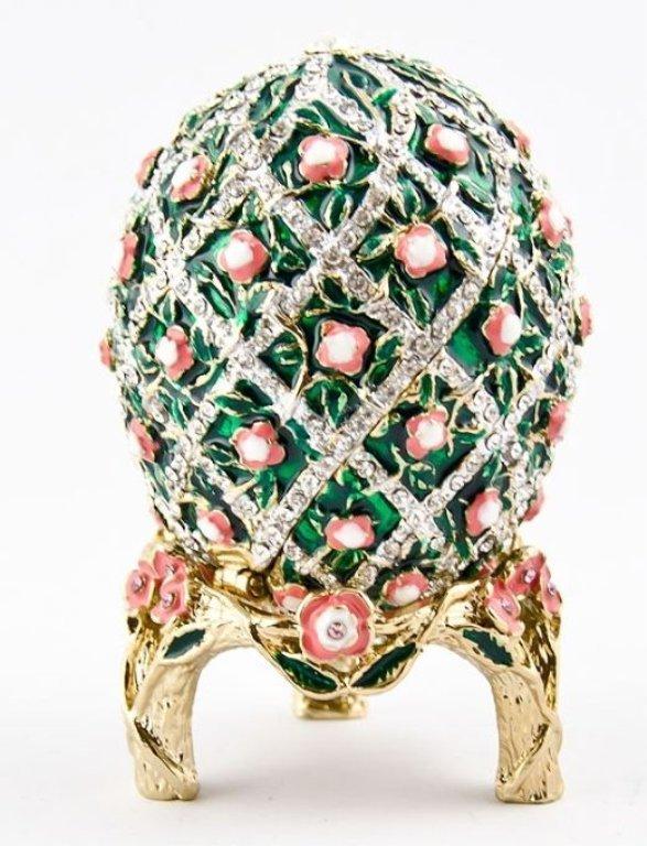 Rose Trellis Faberge Inspired Egg