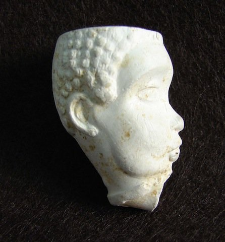 Early Clay Pipe depicting the head Southern Slave
